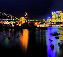 Rainbows - Moods Of A City - Sydney Australia by Philip Johnson
