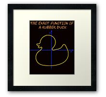Harry Potter The exact function of  a rubber duck Framed Print