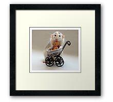 The Babysitter. Framed Print