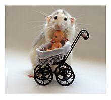 The Babysitter. Photographic Print