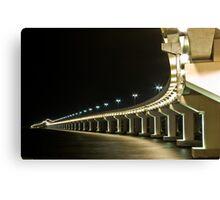 Bridge Over Dark Water Canvas Print