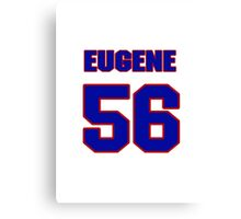 National football player Eugene McCaslin jersey 56 Canvas Print