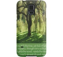 How Still the Tree Photograph and Prose Samsung Galaxy Case/Skin