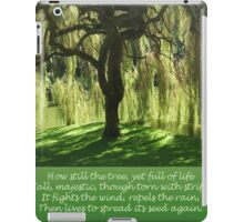 How Still the Tree Photograph and Prose iPad Case/Skin
