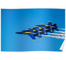 Blue Angels - Teamwork Poster