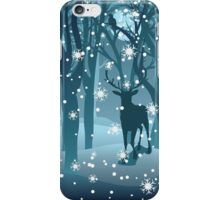 Stag in Winter Forest 2 iPhone Case/Skin