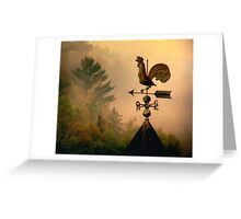 Rooster in the mist... Greeting Card