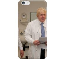 Boris Johnson with Paul Workman iPhone Case/Skin