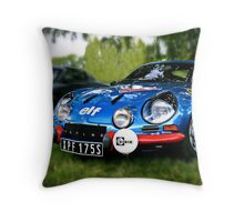 "The Alpine A110 ""Berlinette"" Throw Pillow"
