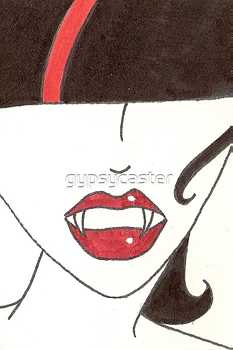 Brand New Fangs  (ACEO size) by gypsycaster
