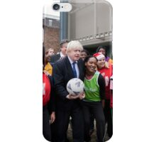 Boris Johnson plays netball iPhone Case/Skin