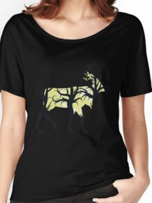 Silhouette of a deer with forest inside Women's Relaxed Fit T-Shirt
