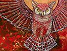 The Hunter (Great Horned Owl) by Lynnette Shelley