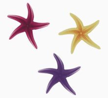 Purple, violet and yellow starfishes One Piece - Short Sleeve