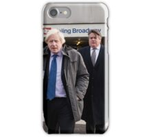 Boris Johnson visits Ealing Broadway iPhone Case/Skin