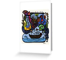 Sailing in Thought Greeting Card