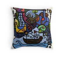 Sailing in Thought Throw Pillow