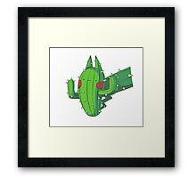 Cactus Pikachu Framed Print
