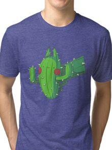 Cactus Pikachu Tri-blend T-Shirt