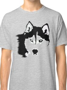 Black and White Husky Classic T-Shirt