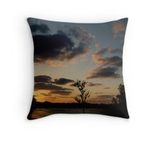 swirling sunrise Throw Pillow