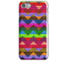 Colorful Chevron Pattern Burlap Rustic Jute iPhone Case/Skin