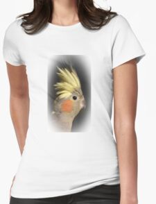 Cockatiel Close-up Womens Fitted T-Shirt