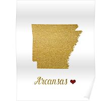 Arkansas map Poster