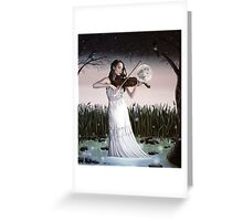 Reverie - Girl playing Violin in Moonlight Greeting Card