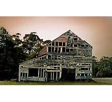Old barn, somewhere in the backwoods of  NSW Photographic Print