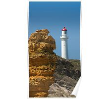Witch Rock guarding Split Point Lighthouse at Aireys Inlet Poster