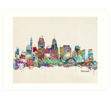 Cincinnati Ohio skyline Art Print