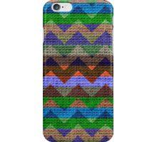 Colorful Chevron Pattern Burlap Rustic Jute #3 iPhone Case/Skin