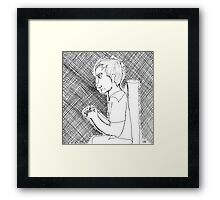 """""""But Maybe I Can Help Her Somehow"""" Framed Print"""