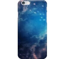 Blue space background iPhone Case/Skin