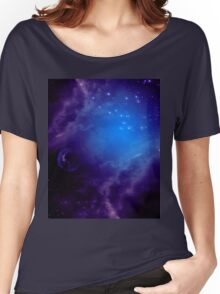 Purple space background Women's Relaxed Fit T-Shirt