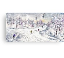 Skiing In The Dolomites In Italy 01 Canvas Print