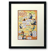 Hi! I am an Introvert! Framed Print