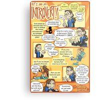 Hi! I am an Introvert! Metal Print