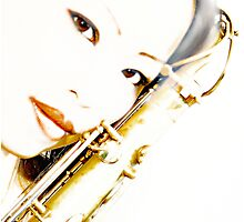 Cherry's Saxophone Photographic Print