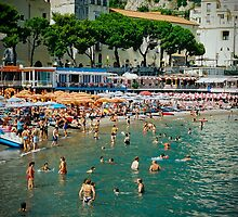 Amalfi beach in summer by Elana Bailey