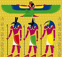 EGYPTIAN GODS WINGED by FieryFinn77