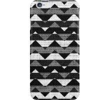 Black and White Chevron Pattern Burlap Rustic Jute iPhone Case/Skin