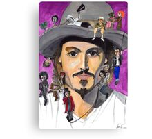 Johnny Depp W/ back Canvas Print