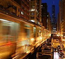 Chicago Elevated Train by mvpaskvan