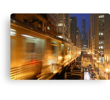 Chicago Elevated Train Metal Print