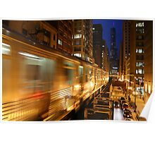 Chicago Elevated Train Poster