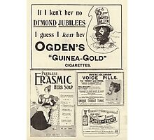 Page of Advertisements Photographic Print