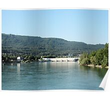 Photography: Landscape in Basel, Switzerland, on the Rhine. Poster