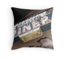 Vintage Diner Sign 1 Throw Pillow